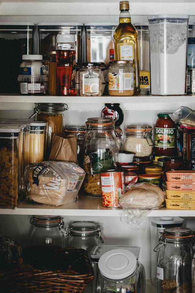 very full food pantry