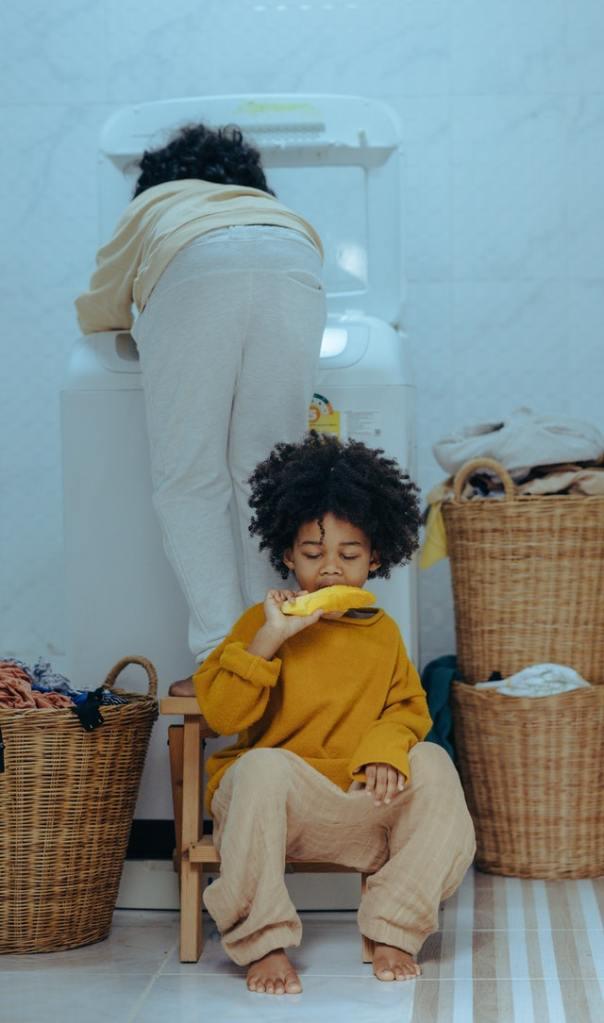 kids playing in the washing machine