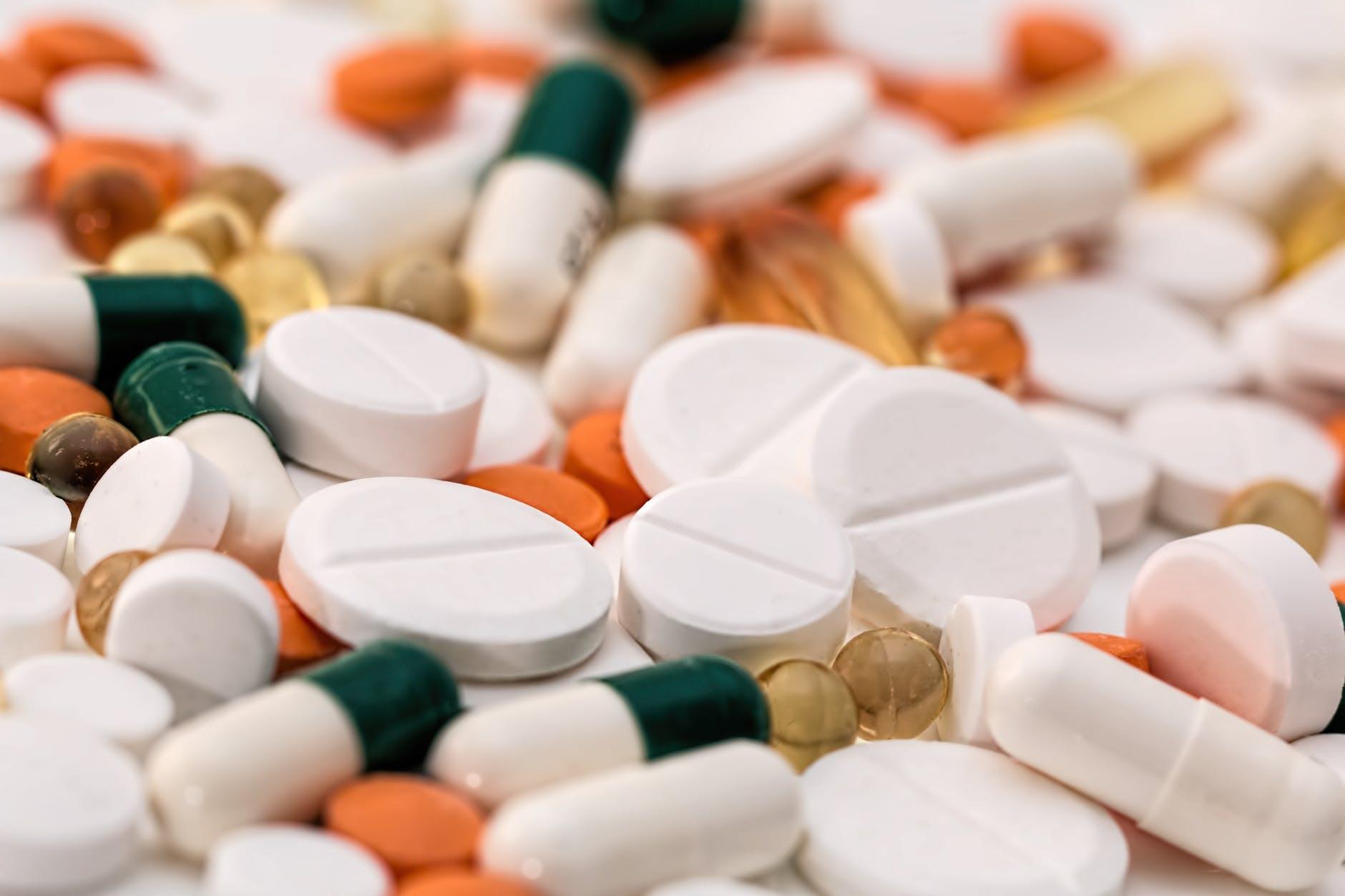 pile of pharmaceutical pills